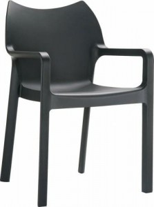 Krzesło Dionisio Black Arm chair OUTLET